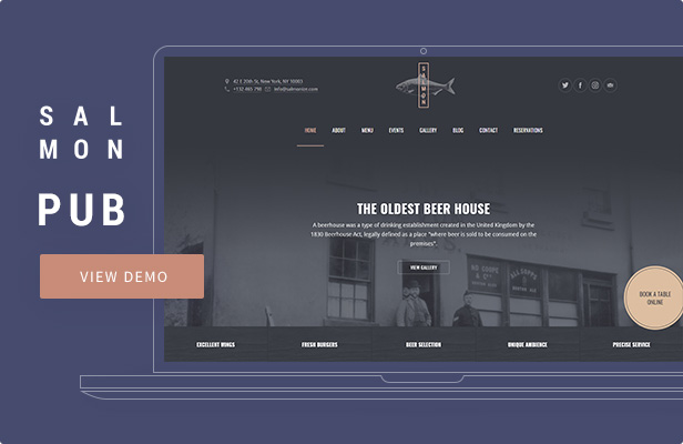 Salmon — Pub WordPress Theme