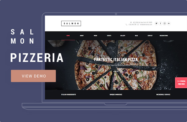 Salmon — Pizzeria WordPress Theme