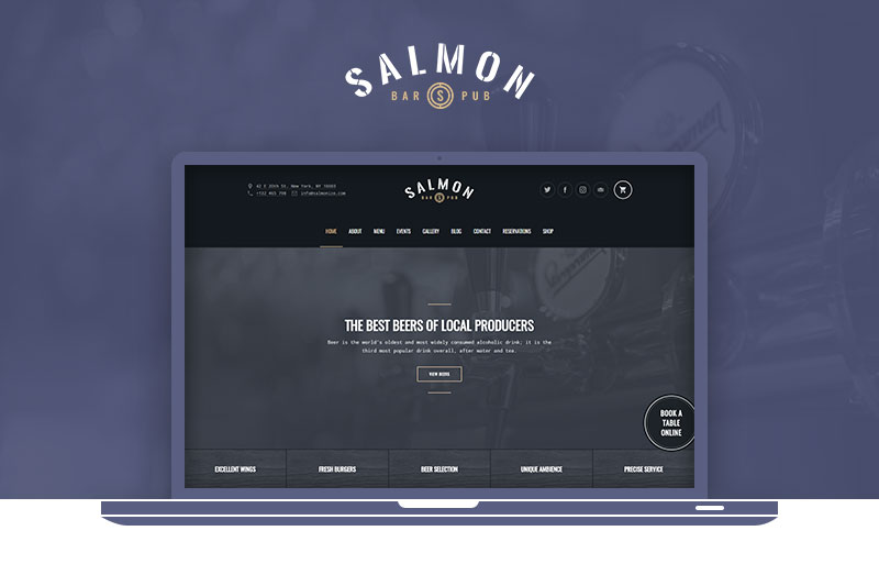Salmon: Pub WordPress Theme