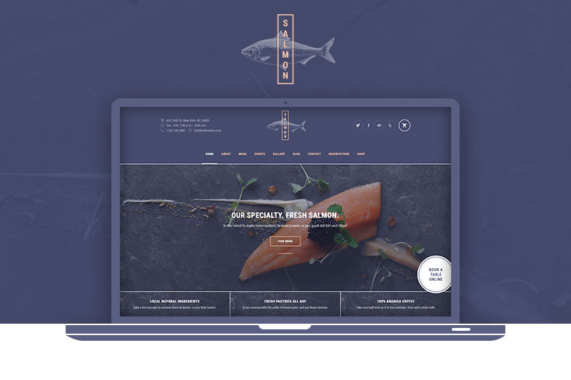 Salmon: Seafood WordPress Theme