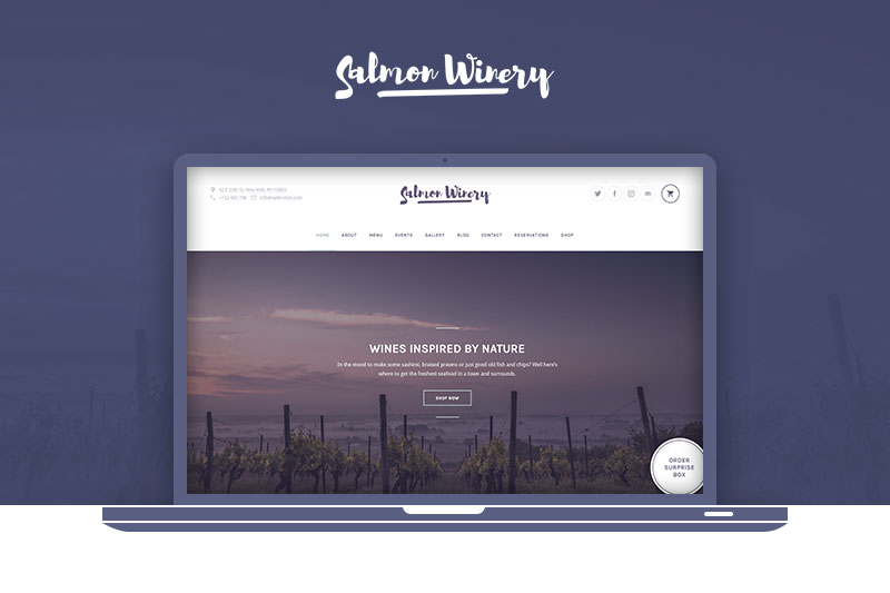 Salmon: Winery WordPress Theme